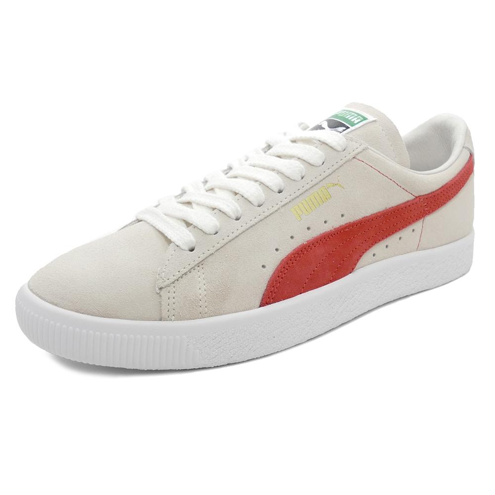 スニーカー プーマ PUMA スウェード90681 ホワイト/オレンジ メンズ レディース シューズ 靴 18FA