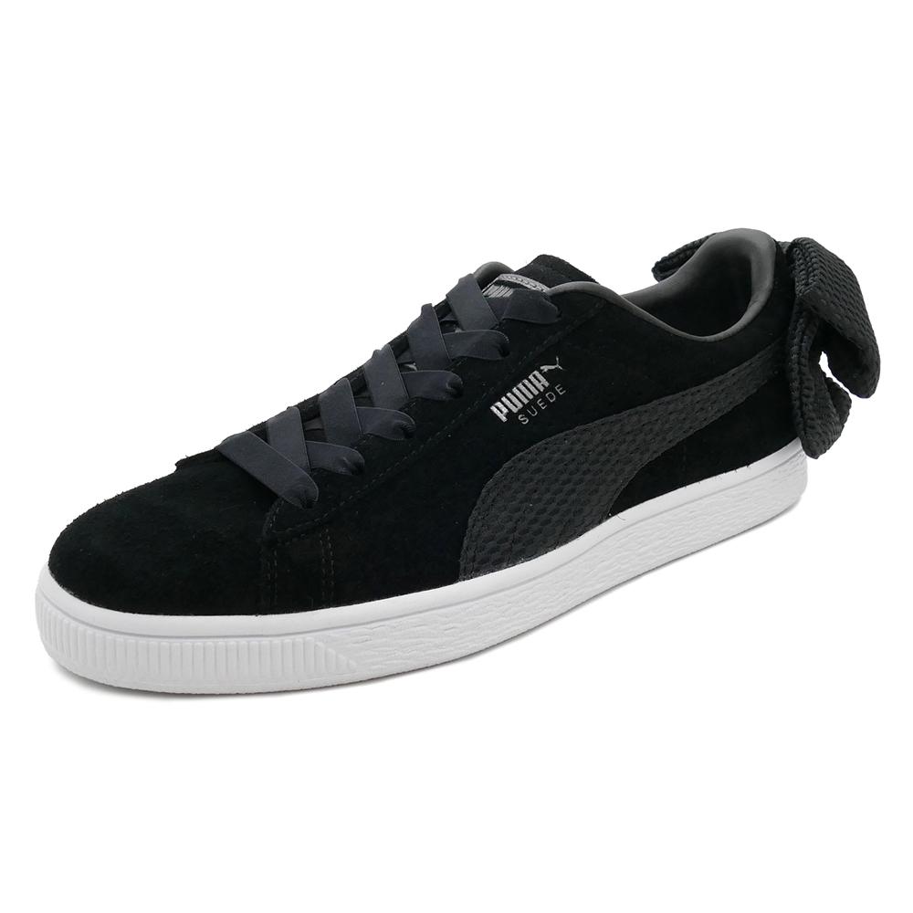 スニーカー プーマ PUMA スウェードBOWアップライジングウィメンズ ブラック/ホワイト レディース シューズ 靴 18FA