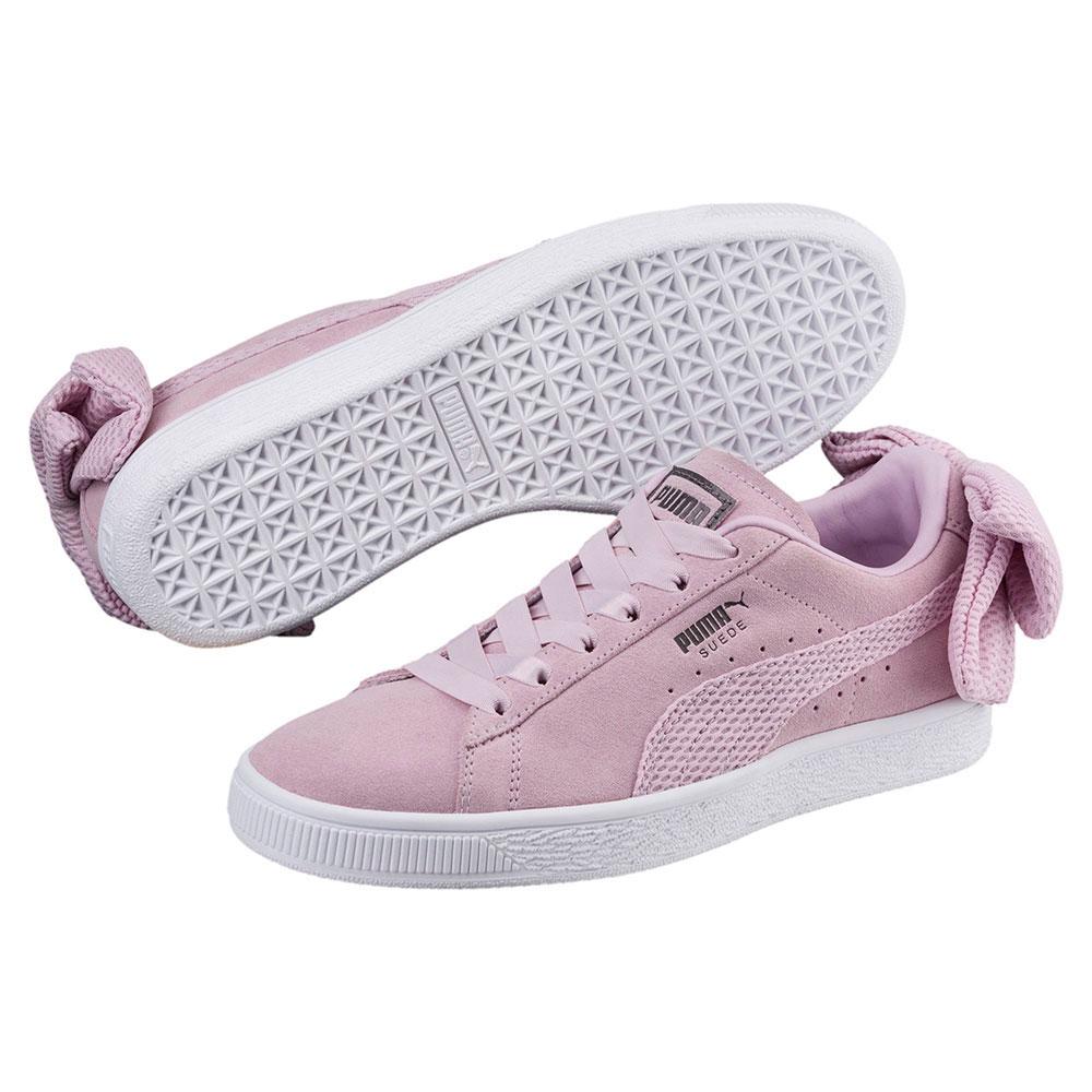 スニーカー プーマ PUMA スウェードBOWアップライジングウィメンズ ピンク/ホワイト レディース シューズ 靴 18FA