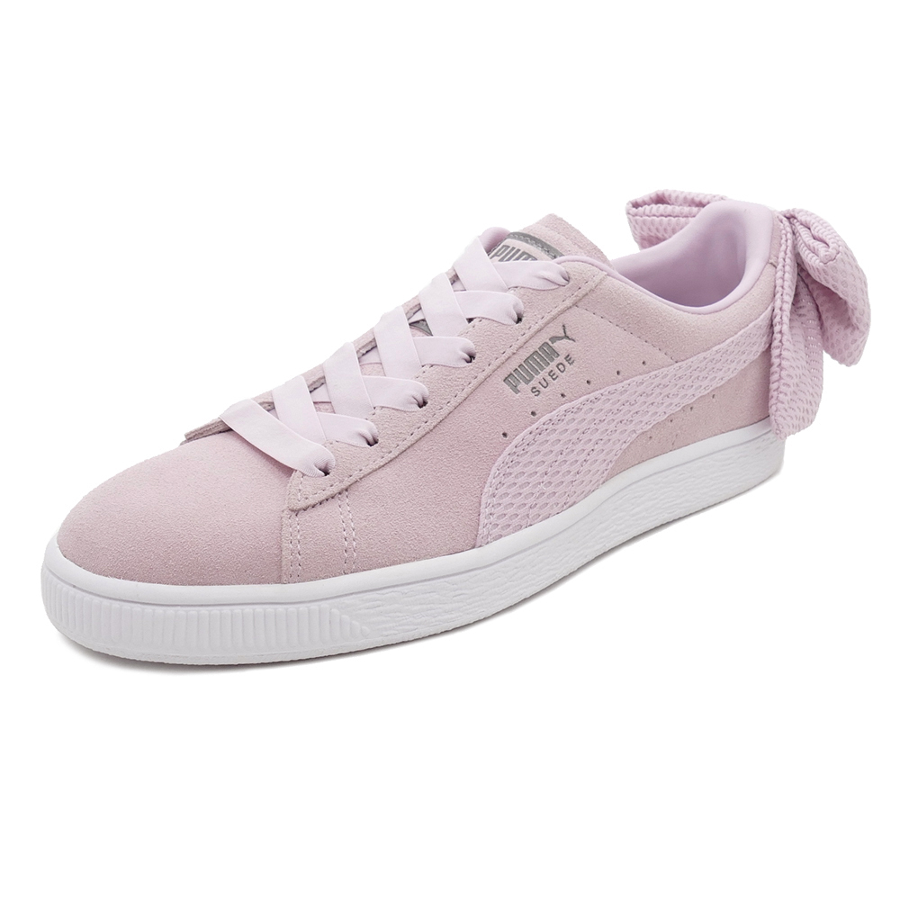 a3a41e38564ce4 Sneakers Puma PUMA suede cloth BOW up rising women pink   white Lady s shoes  shoes 18FA