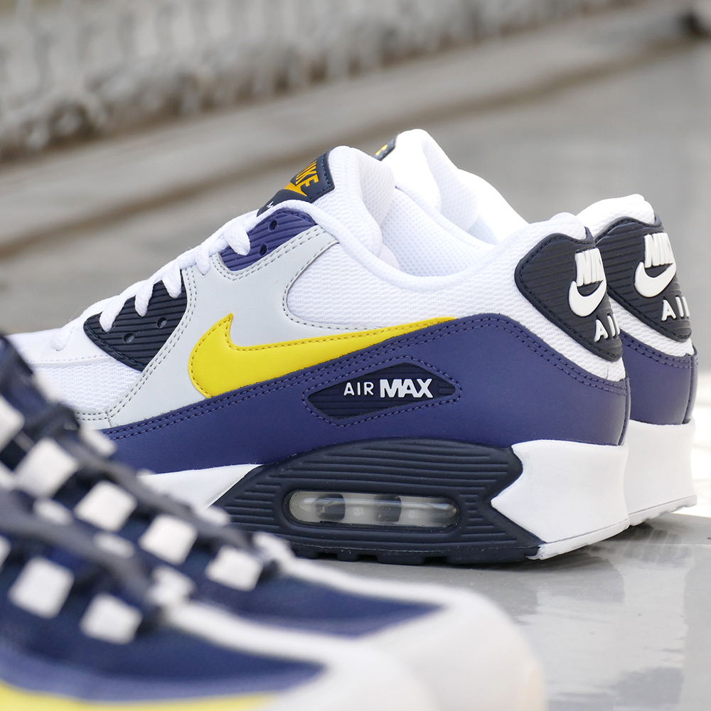 the latest c2b21 59790 ... cheap nike air max 90 essential white tour yellow blue recall pure  platinum obsidian white tour ...