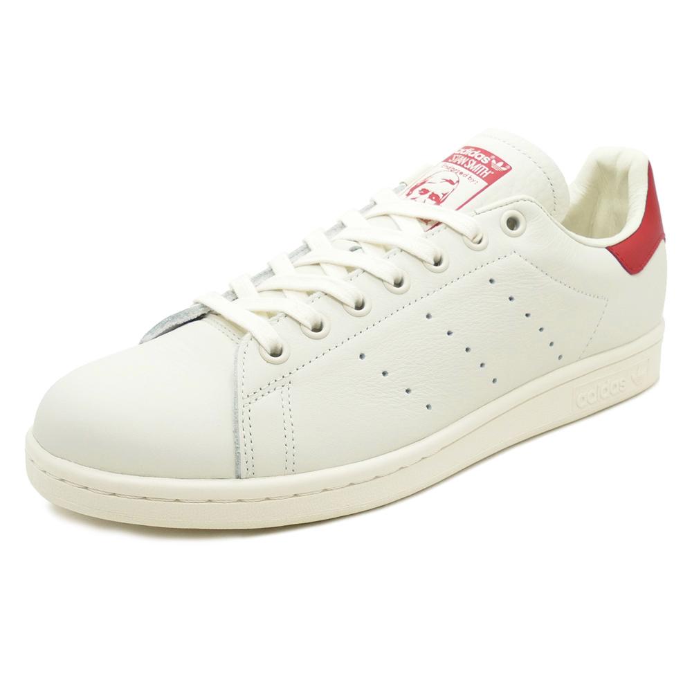 adidas Originals STAN SMITH chalk white chalk white scarlet (scarlet chalk  white   chalk white  ) B37898 18FW 48650055b