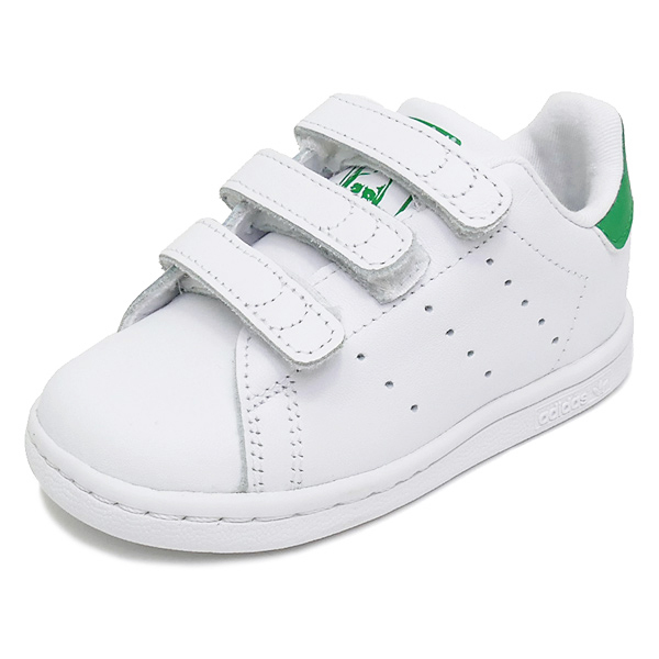 ddd587f71846 ... france sneakers adidas adidas stan smith cfi white green kids shoes  shoes 18fw a1761 c4886