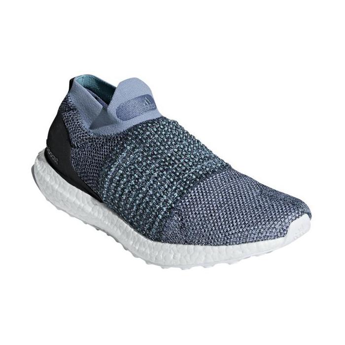 スニーカー アディダス adidas ウルトラブーストレースレスパーレイ グレー/ブルー/ホワイト メンズ レディース シューズ 靴 18FW