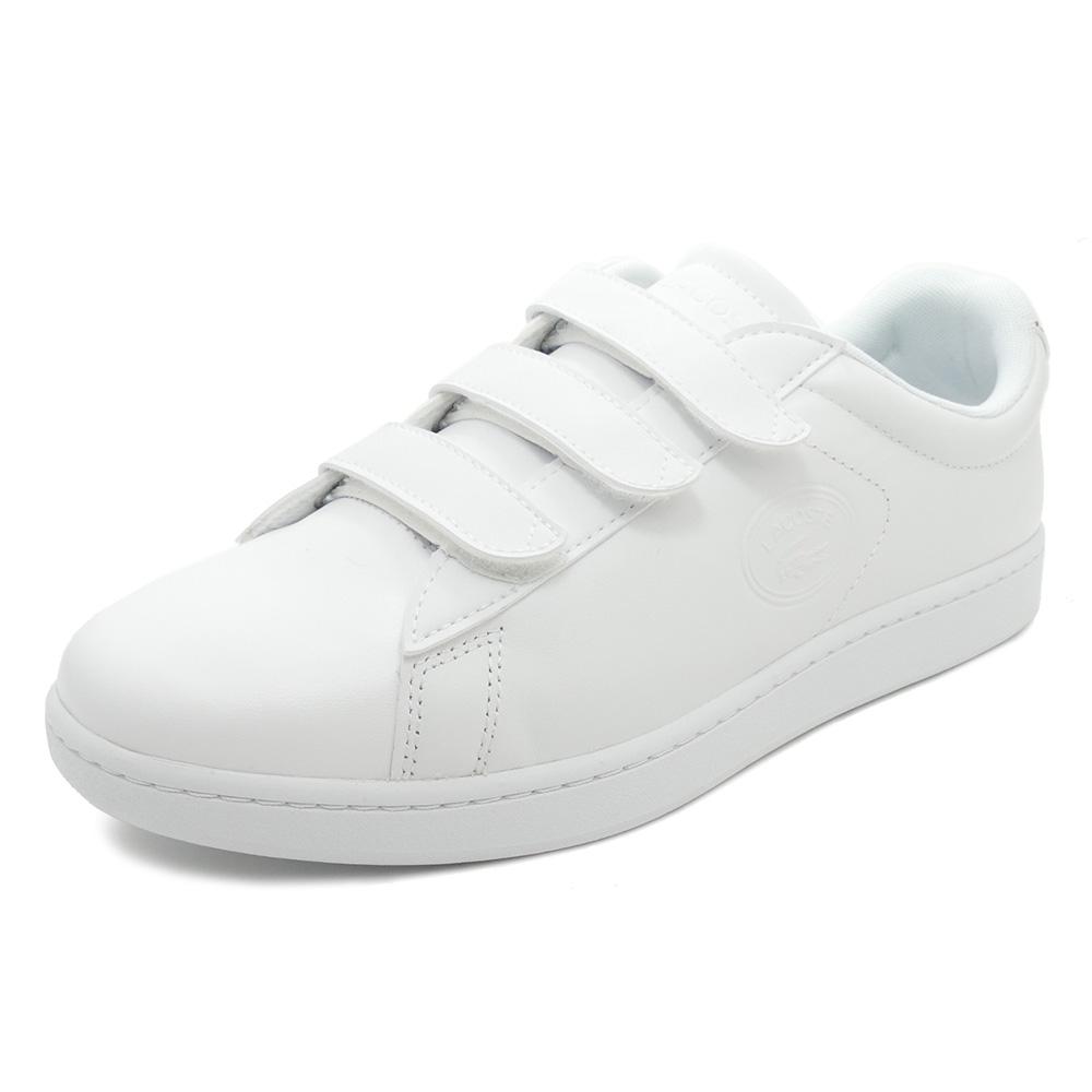 スニーカー ラコステ LACOSTE カーナビーエヴォストライプ3183 ホワイト メンズ シューズ 靴 18FW