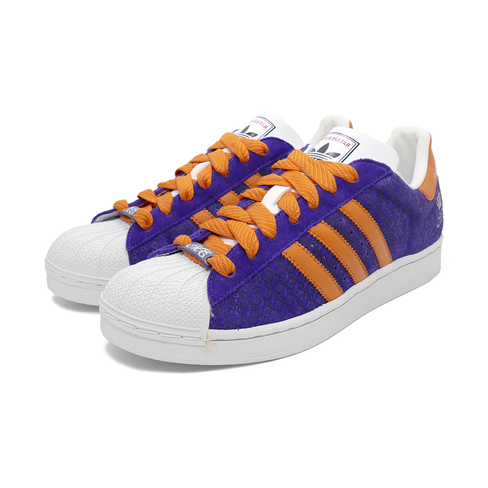 スニーカー アディダス adidas スーパースター35周年 ミュージック ミッシー・エリオット バイオレット/オレンジ/ホワイト メンズ シューズ 靴 デッドストック