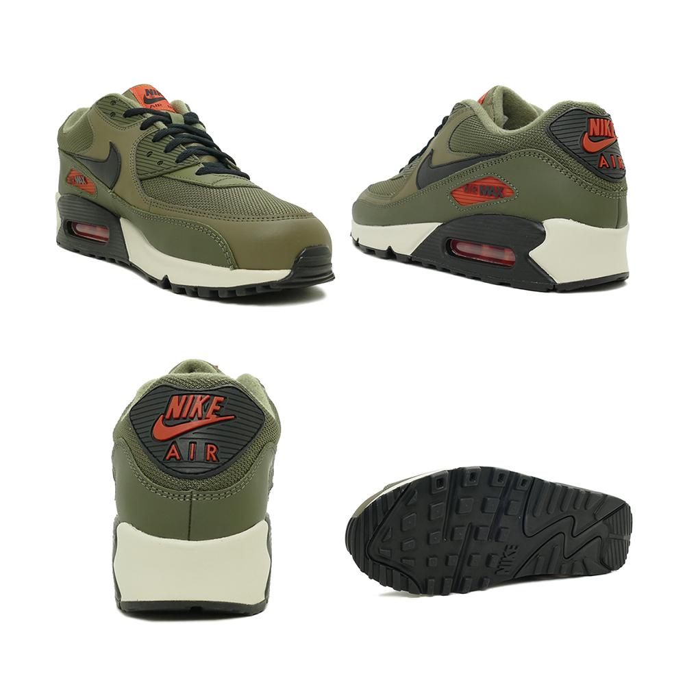 Sneakers Nike NIKE Air Max 90 essential olive black orange khaki men gap Dis shoes shoes 19SU