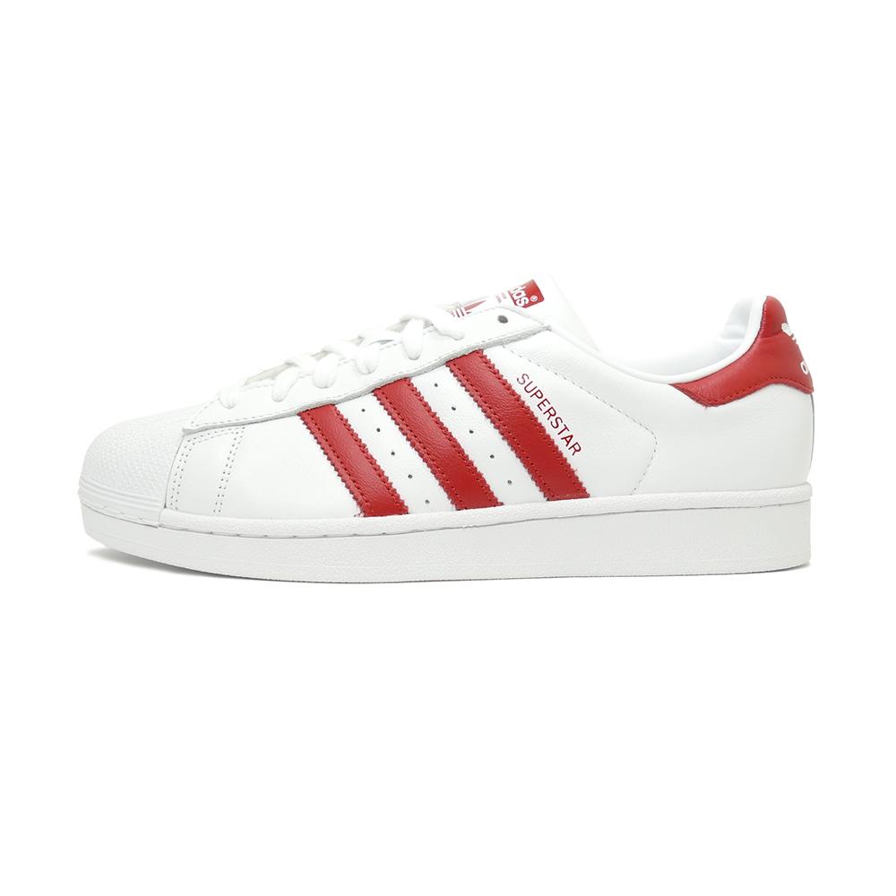 adidas superstar white red