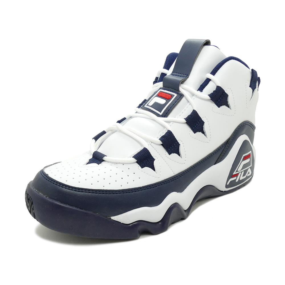 スニーカー フィラ FILA グラントヒル ホワイト/ネイビー/レッド メンズ シューズ 靴