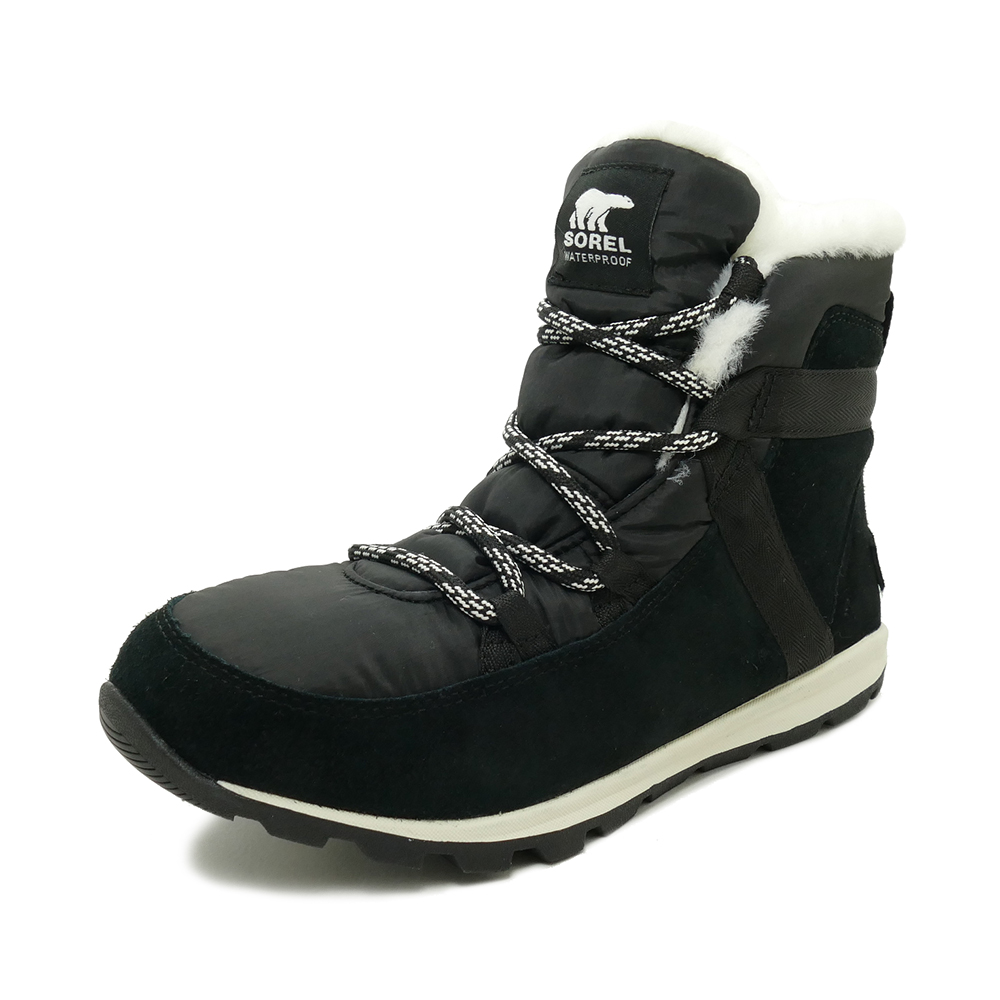 ブーツ ソレル SOREL ウィットニーフルーリー ブラック レディース シューズ 靴 19FW