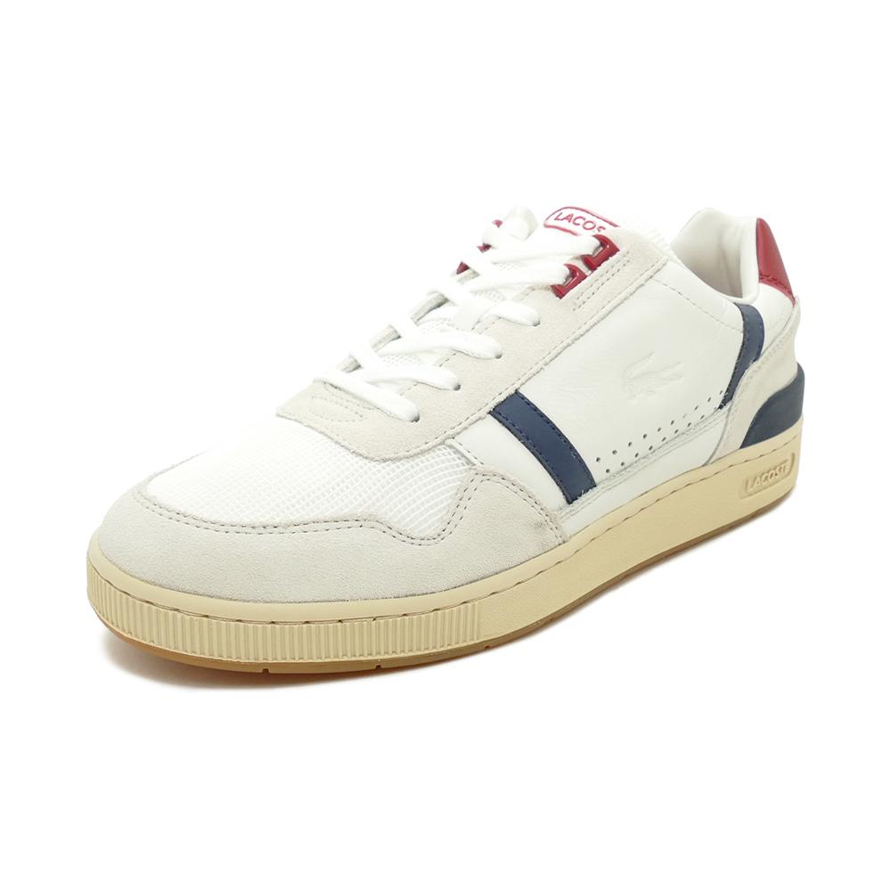 スニーカー ラコステ LACOSTE T-CLIP 120 2 US オフ ホワイト/ネイビー/レッド SMA0057-8R1 メンズ シューズ 靴 20Q1
