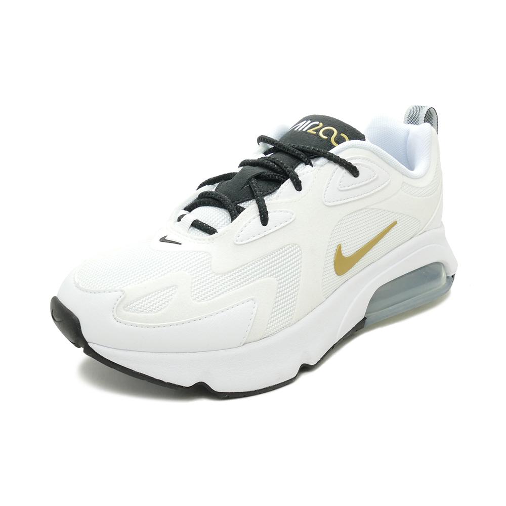 スニーカー ナイキ NIKE ウィメンズエアマックス200 ホワイト/メタリックゴールド/ブラック/メタリックシルバー AT6175-102 レディース シューズ 靴 20SU