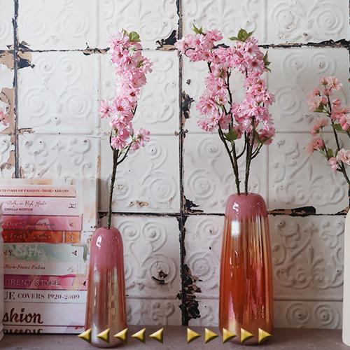 送料無料限定セール中 ディスプレイに華やかな八重桜 造花 八重桜 アートフラワー 枝物 枝花 シルクフラワー ついに入荷 桜