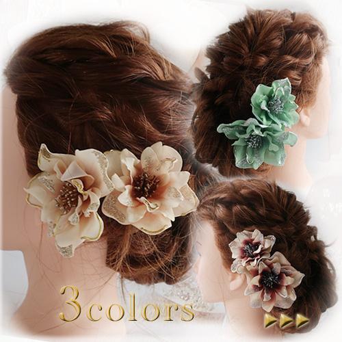 上品なベロア素材のクリスマスローズの髪飾り 結婚式 卒業式 出色 入学式 無料サンプルOK 髪飾り クリスマスローズ 3色 ベロア ラメ入り
