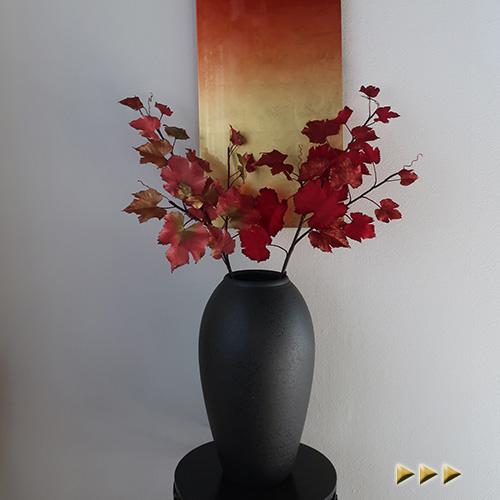 お正月飾りに華やかなグレープリーフ 正月 造花 グレープリーフ アーティフィシャルフラワー アートフラワー 好評 人気海外一番 正月飾り フェイクフラワー シルクフラワー
