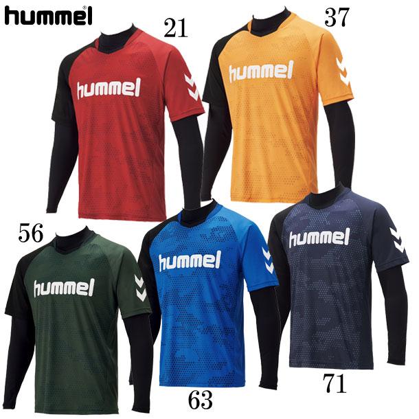 ヒュンメル プラクティスシャツ レイヤードプラクティスシャツセット hummel お買い得品 HAP7116 63 本物 ヒュンメルプラクティスシャツ19FW