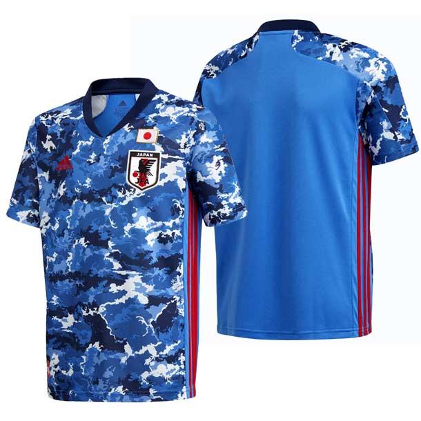 サッカー日本代表 2020 キッズ ホーム レプリカ ユニフォーム / JAPAN HOME KIDS JERSEY 【adidas】アディダス 日本代表 ウェア プラシャツ 20SS(GEM06-ED7345)*00