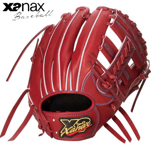 硬式用 トラストX 内野手用※グラブ袋付【XANAX】ザナックス 野球 硬式用グローブ20SS(BHG53120)*10