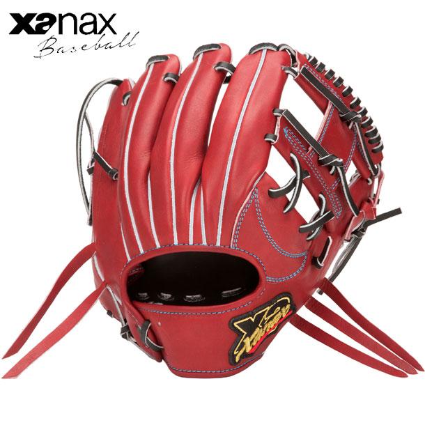 硬式用 トラストX 内野手用※グラブ袋付【XANAX】ザナックス 野球 硬式用グローブ20SS(BHG62420)*10