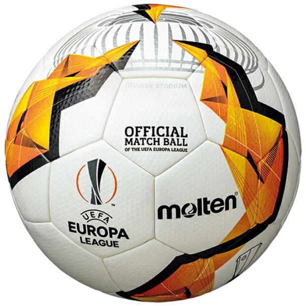 UEFAヨーロッパリーグ 19-20 ノックアウトステージ 公式試合球 【molten】モルテン 5号球 サッカーボール (F5U5003-K0)*00