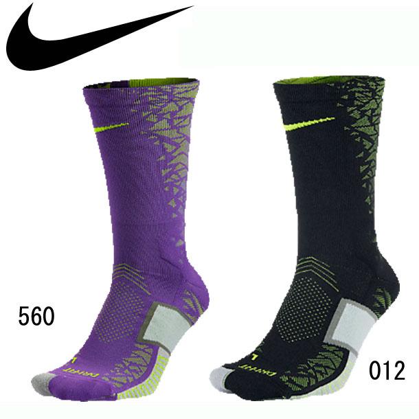 Nike Match Fit Elite Hypervenom Crew Black/Hyper Grape Soccer Socks