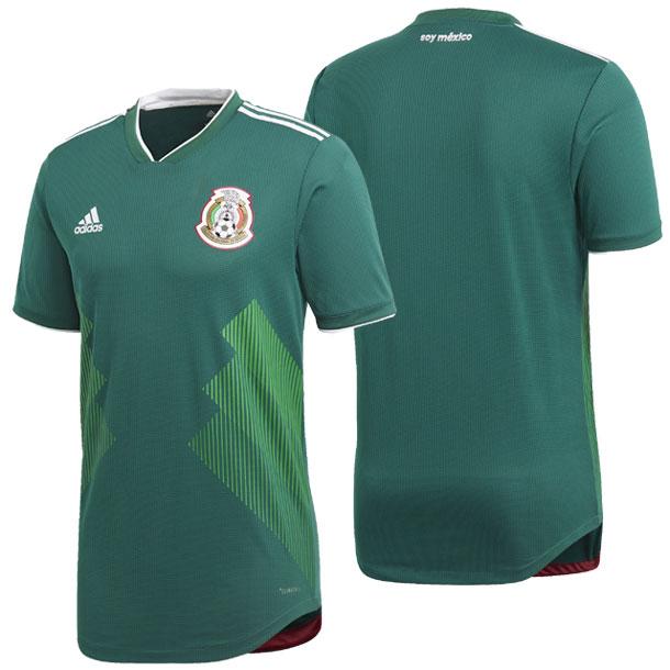 メキシコ代表ホームオーセンティックユニフォーム半袖【adidas】アディダス サッカー オーセンティックユニフォーム18SS(DSZ94-BQ4703)*00