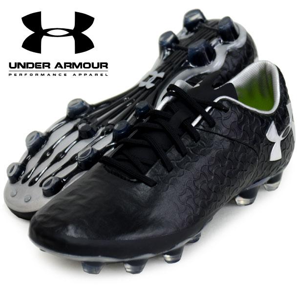 UA マグネティコプレミアHG【UNDER ARMOUR】アンダーアーマー サッカースパイク 18SS(3020150-BLK/MSV)*21