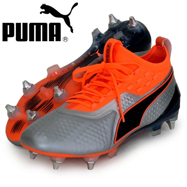 プーマ ワン 1 レザー MX SG 取替式【PUMA】プーマ サッカースパイク18FW(104737-01)*10