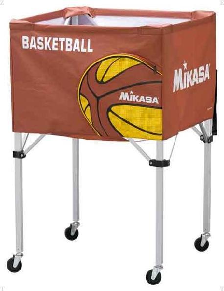 ボール籠 バスケットボール ブラウン【MIKASA】ミカサ学校機器 mikasa(BCSPHBB)*20