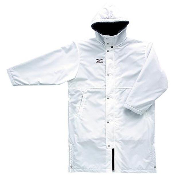 コート(01ホワイト)【MIZUNO】ミズノトレーニングウエア ミズノクロスティック コート(a60jb05101)*30