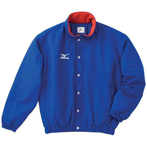 中綿ウォーマーキルトシャツ(フード収納式)(22ブルー)【MIZUNO】ミズノ陸上競技 ウエア ウォームアップ(a60jf96222)*30