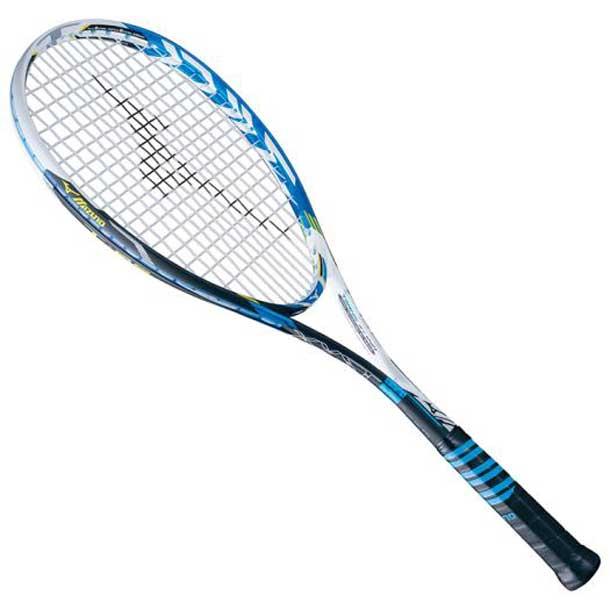『フレームのみ』ソフトテニスラケット ジスト T-05(23ホワイト×ブルー)【MIZUNO】ミズノソフトテニス ラケット ジスト(63JTN63523)*40