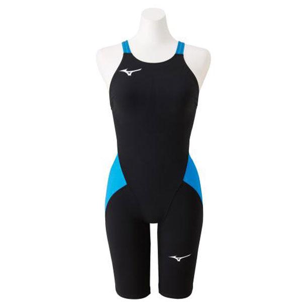 競泳用MX・SONIC α ハーフスーツ(ジュニア)(91ブラック×スカイブルー)【MIZUNO】ミズノスイム 競泳水着 MX・SONIC α(N2MG0411)*20