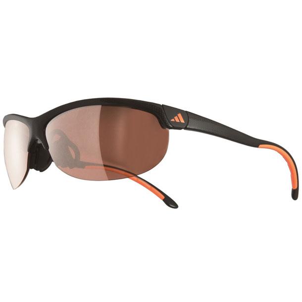 ランニング スポーツサングラス ADIZERO Sサイズ カーボンブラックオレンジ×LSTアクティブS【adidas】アディダス リクジョウサングラス(A171016079)*30