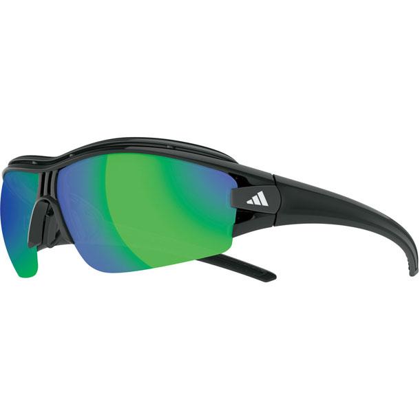 サイクル サングラス evil eye halfrim pro Sサイズ シャイニーブラック【adidas】アディダス リクジョウサングラス(A198016090)*30