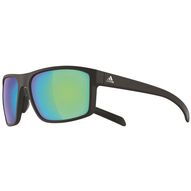 ゴルフ サングラス WHIPSTART マットブラック×グレイ・ブルーミラー【adidas】アディダス リクジョウサングラス(A423006055)*30
