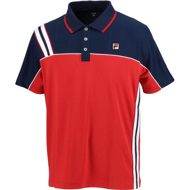 93 ゲームポロシャツ【fila】フィラテニスゲームシャツ M(vm5432-11)*11