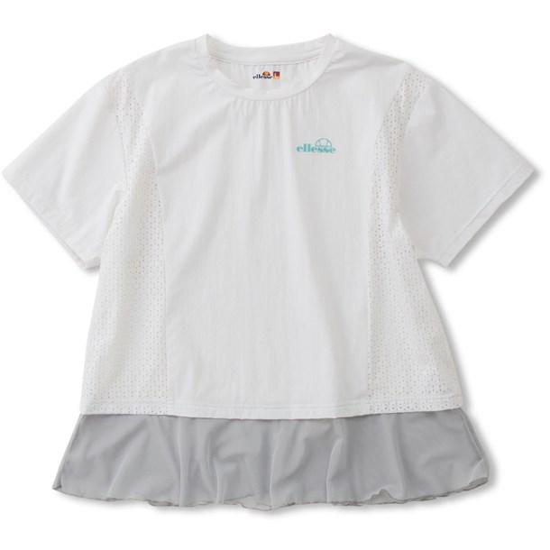 SSパンチングクロップシャツ【ellesse】エレッセテニスTシャツ W(ew00115-w)*20