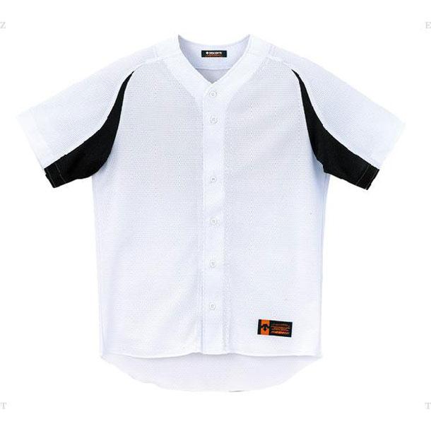 ユニフォームシャツ カラーコンビネーション【DESCENTE】デサントヤキュウソフトハンソデTシャツ(DB43M-SWBK)*21