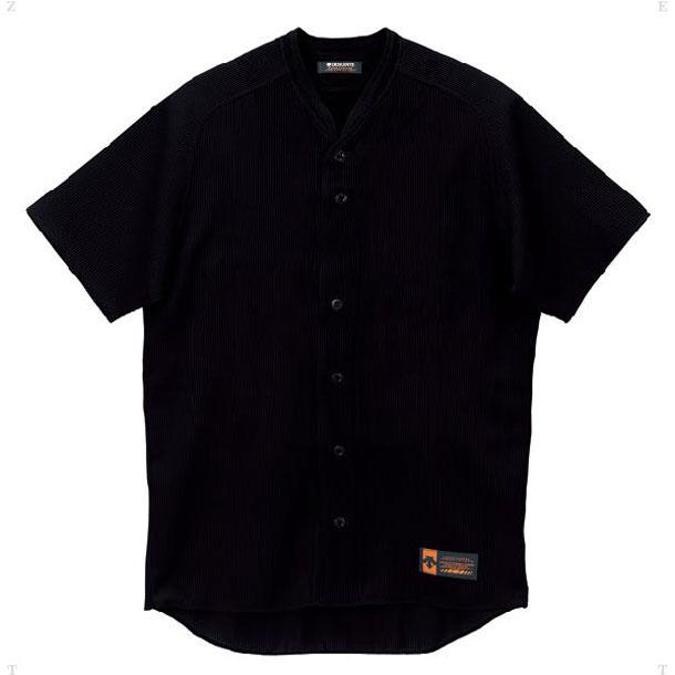 立襟フルオープンシャツ プロモデル(ルーズシルエット)【DESCENTE】デサントヤキュウソフトユニフォーム(DB55M-BLK)*27
