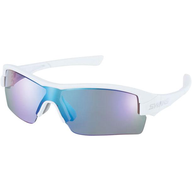 STRIX・H-M ミラーレンズ マットホワイト×マットホワイト×ホワイト【SWANS】スワンズマルチSPサングラス(STRIXH1101-MAW)*20