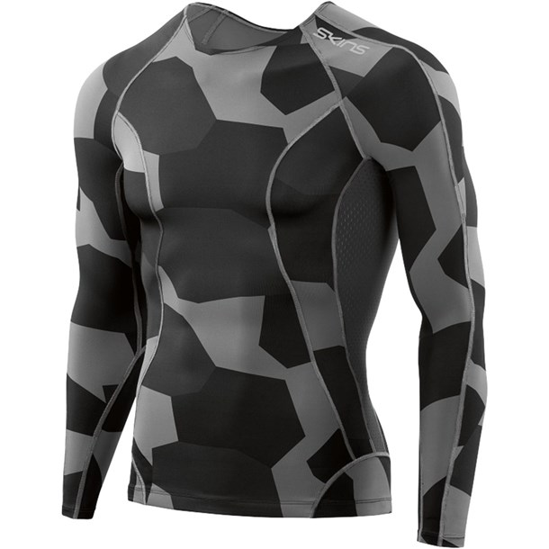A200 DNA M ロングスリーブ【skins】スキンズボディケアストレッチシャツ(d95055031s-dscc)*20