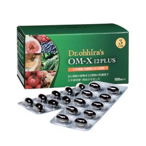 発酵食品 植物原料 OM-X 12PLUS 100粒 3年熟成 バイオバンク Dr.Ohhira's 生酵素サプリ OMX 非加熱 酵素 国産 乳酸菌 ビフィズス菌 オーエムエックス オーエム・エックス