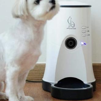 ペットステーション 遠隔給餌システム 犬 猫 ペット カメラ ごはん お世話 お話し 留守番 防犯
