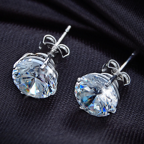 CZ diamond 0.75 CT K14 white gold earrings (past two) (Erie スキンジュ) fs3gm