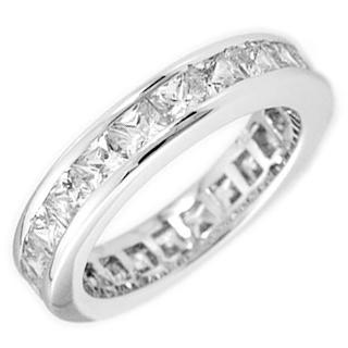 2.25カラット プリンセス フルエタニティ シルバーリング(指輪)【送料無料・代引手数料無料】