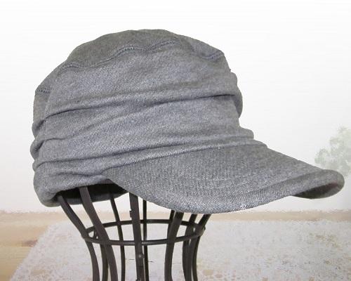 【医療用に見えない医療用帽子/抗がん剤 帽子  レディース/メンズ】シャーリングワークキャップ チャコールグレー