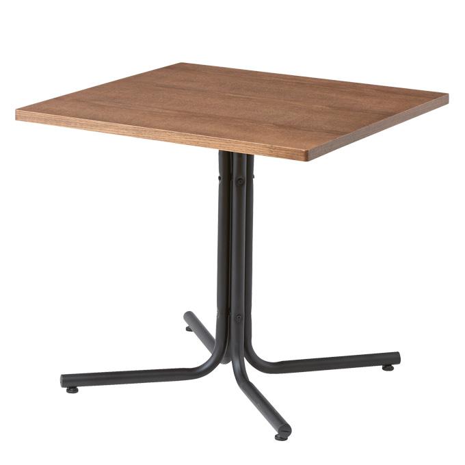 『ダリオ カフェテーブル』 ダイニングテーブル カフェテーブル 食卓テーブル コーヒーテーブル ラウンジテーブル カウンターテーブル センターテーブル サイドテーブル おしゃれ 北欧 ナチュラル カフェ風 木製 正方形 スチール脚 スクエア 75cm ダイニング