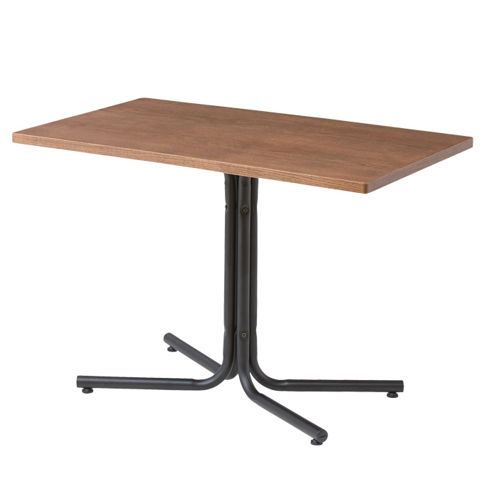 『ダリオ カフェテーブル』 カフェテーブル ダイニングテーブル 食卓テーブル コーヒーテーブル ラウンジテーブル カウンターテーブル センターテーブル おしゃれ 北欧 ナチュラル カフェ風 木製 スチール脚 長方形 幅100cm ダイニング カフェ 飲食店 一人暮らし シンプル