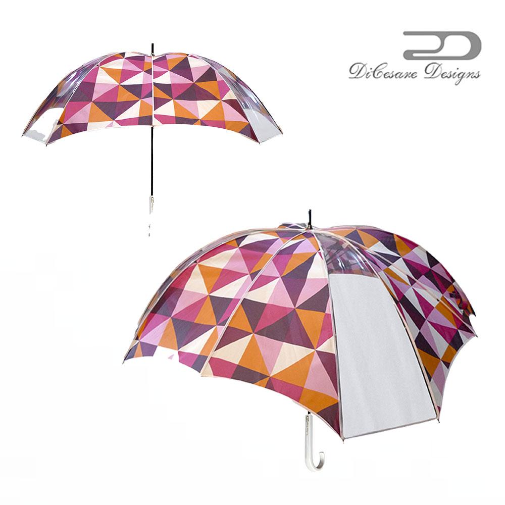 大人のための、大人の雨傘 『CROSSWalker 雨傘 UNISEX GLITZ』デザイナーズブランド 傘 雨傘 かさ カサ おしゃれ お洒落 かわいい 女性用 婦人用 深張り ドーム型 デザイン 通販 高級 上品 カラフル プレゼント